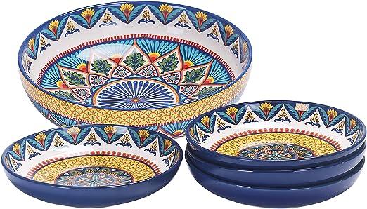 Amazon.com: Bico Ceramics Juego de cuencos de pasta, juego ...