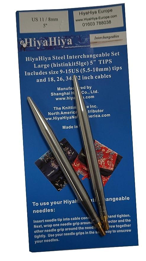 HiyaHiya 12,7 cm x 8 mm puntas de acero inoxidable: Amazon ...