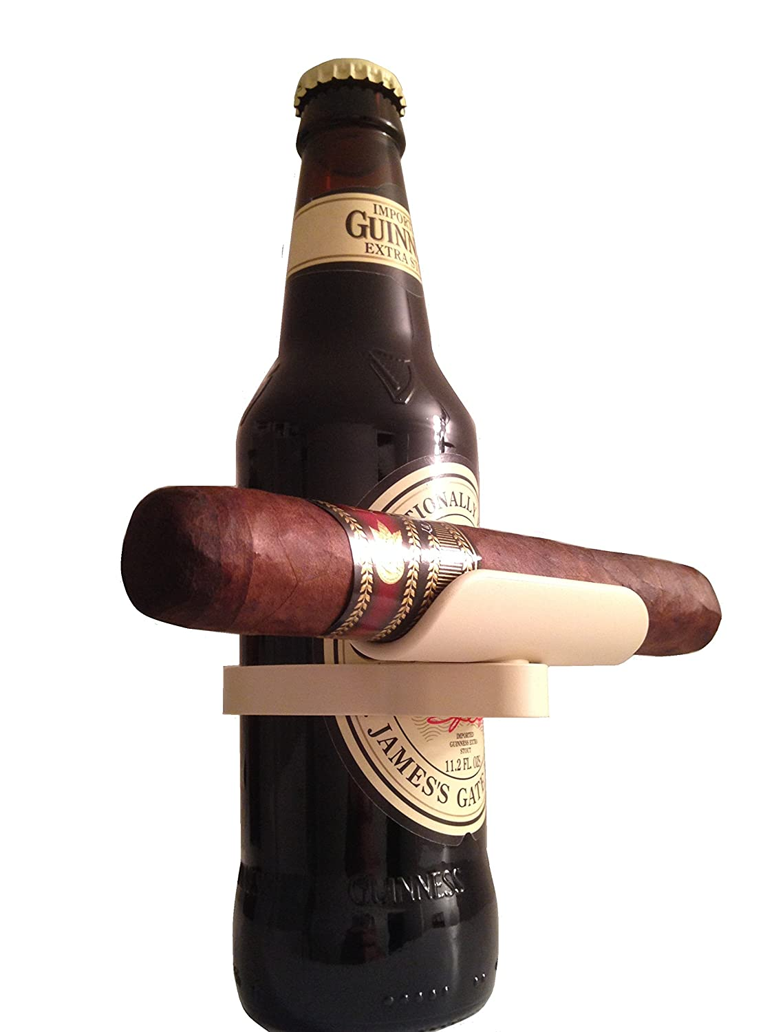 CigarZup Cigar Holder. Fits onto any Bottled Beverage! Perfect Gift, Cigar Accessory for any Cigar Enthusiast! SCI