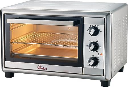 Ardes AR6224X horno tostador 24 L Acero inoxidable 1500 W - Hornos tostadores (24 L, Acero inoxidable, Giratorio, 90-230 °C, Mecánico, 60 min): Amazon.es: Hogar