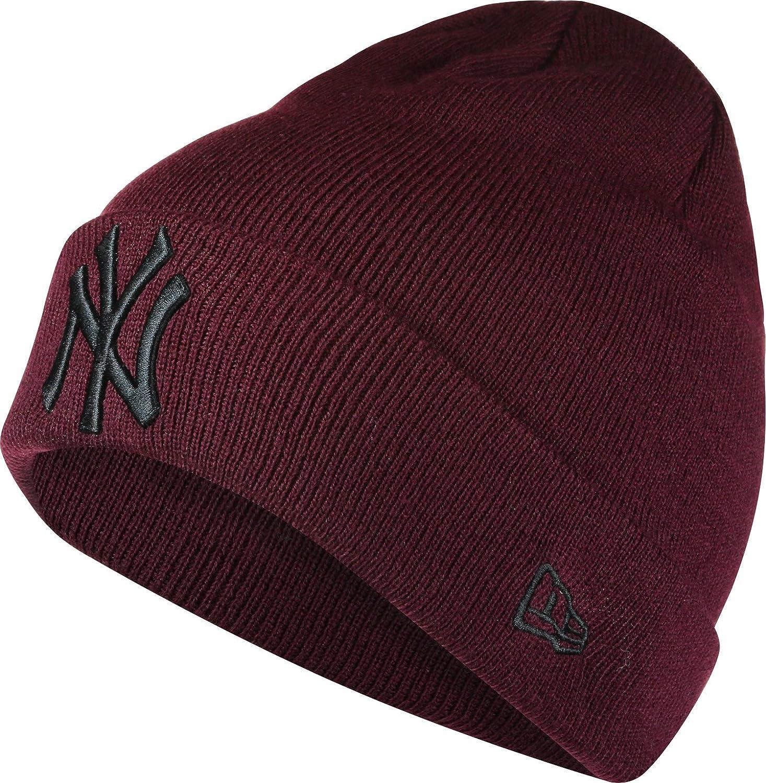 caff892c8 New Era Men Accessories/Beanie Seasonal Cuff NY Yankees red Standard Size:  Amazon.co.uk: Clothing