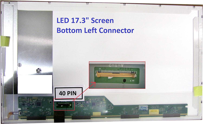 Asus R704A Laptop Screen 17.3 LED Bottom Left WXGA++