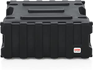 "Gator Cases Pro Series Rotationally Molded 4U Rack Case with Standard 19"" Depth; Made in USA (G-PRO-4U-19)"