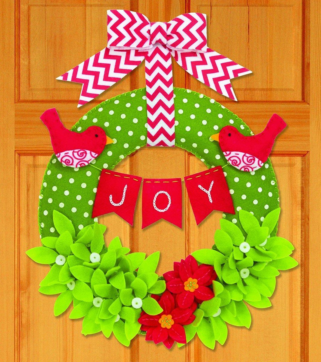 Dimensions Crafts 72-08272 Needlecraft Joy Wreath in Felt Applique CHAIN WIT CORPORATION