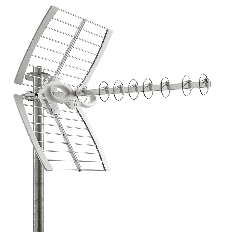 Fracarro Sigma 8HD LTE antenne TV - Antennes TV (Gris, 16 dBi, UHF, F, 75 Ohm, 32 dB) 213213