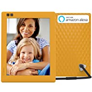 Nixplay Seed 8 Inch WiFi Cloud Digital Photo Frame with IPS Display, iPhone & Android App, iOS Video Playback, Free 10GB Online Storage, Alexa Integration and Hu-Motion Sensor - Mango (W08D)
