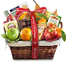 Merry Christmas Deluxe Fruit Basket