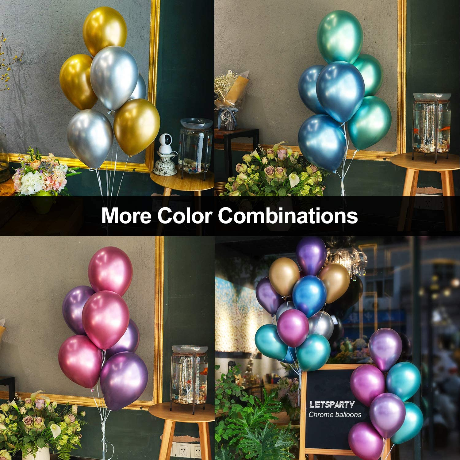 Baby Shower Etc Set Contains 10 purple Sequin Balloons and 10 Purple latex balloons Suitable for Birthday Wedding Parties MEET 20pcs 12Sequined Metal Combination Latex Balloon purple