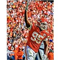 """$74 » Chris Jones Kansas City Chiefs Autographed 8"""" x 10"""" Hand Up Photograph - Fanatics Authentic Certified"""