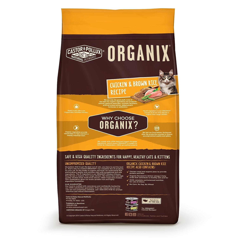 Amazoncom Organix Chicken Brown Rice Recipe Dry Cat Food 4