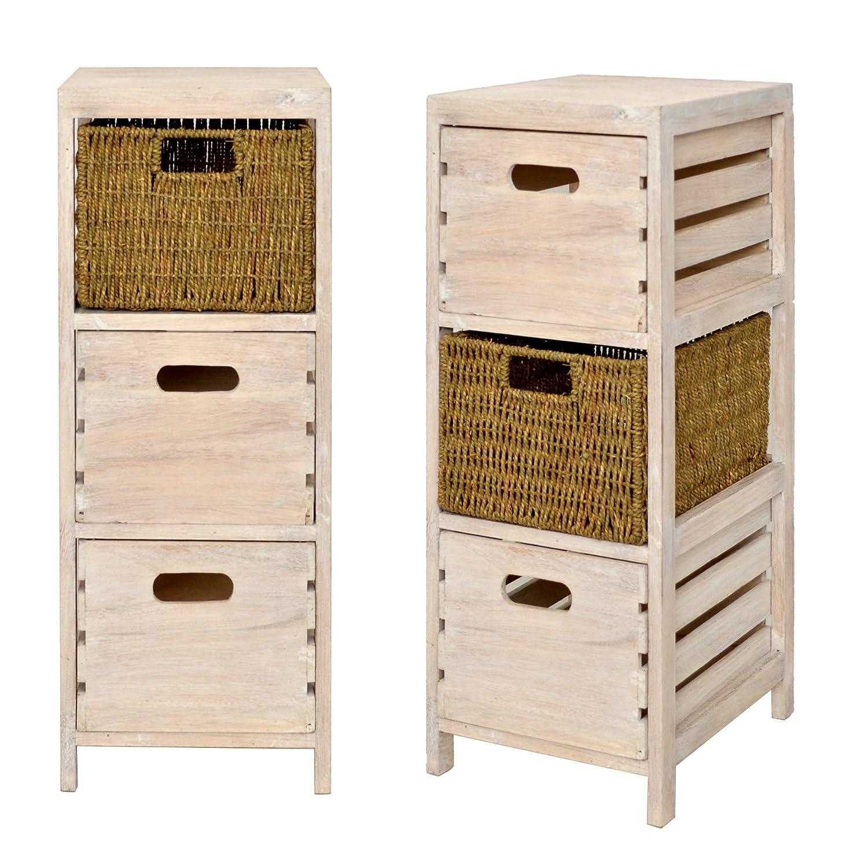 Ts Ideen Cajonera Para Ba O 3 Cajones Dise O Vintage Color  # Muebles Cajoneras