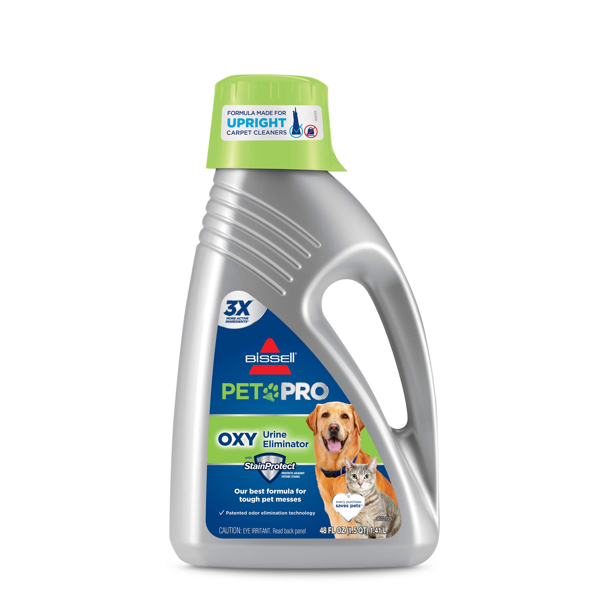Bissell Professional Pet Urine Eliminator + Oxy Carpet Cleaning Formula, 48 oz, 1990