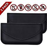 2 Pack Faraday Bag for Phones, RFID Blocking Faraday Key Fob Protector, Faraday Cage Signal Blocker, Cell Phone Key Fob…
