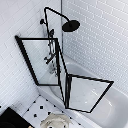 Aurlane FAC275 - Mampara bañera, color negro: Amazon.es: Bricolaje y herramientas