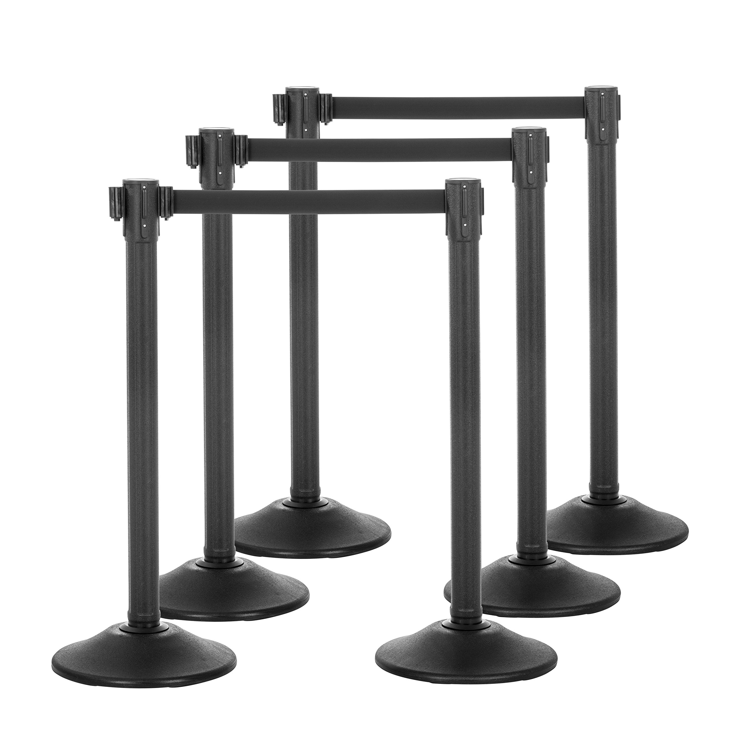 US Weight Sentry QuikSecure Stanchion with Retractable Belt (6-Pack)