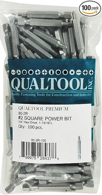 Qualtool Premium 80-2R Size 2 Square Power Bit