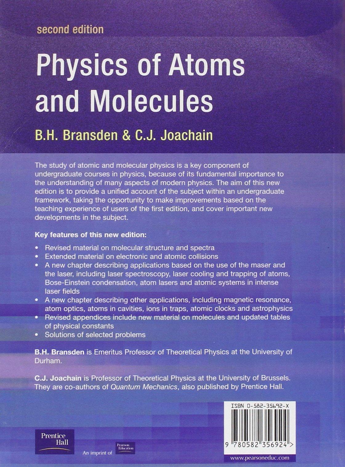 Atomic And Molecular Physics Book