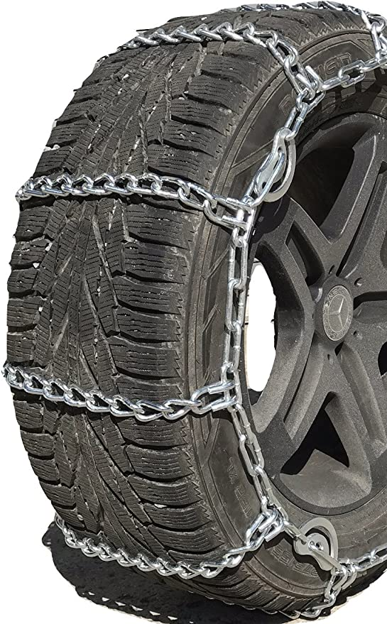 TireChain.com 12 16.5 12-16.5 Boron Alloy Ladder Tractor Tire Chains Set of 2