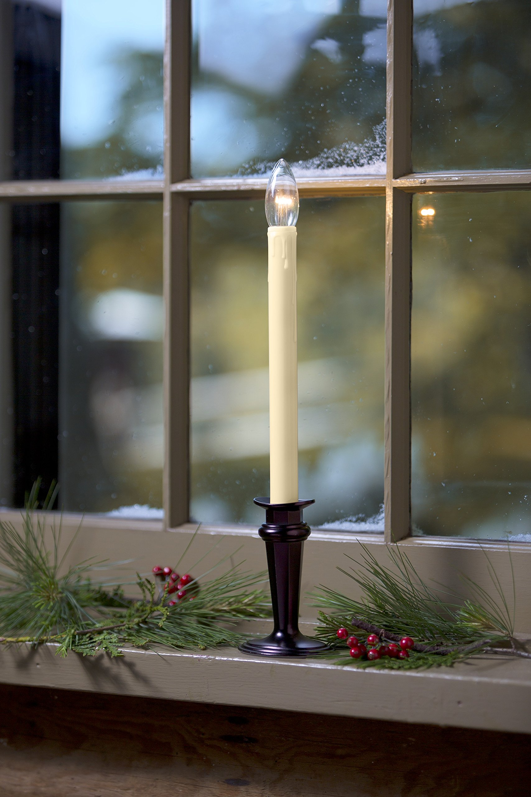 Plow & Hearth Battery-Operated Traditional Adjustable Window Candle, Bronze by Plow & Hearth