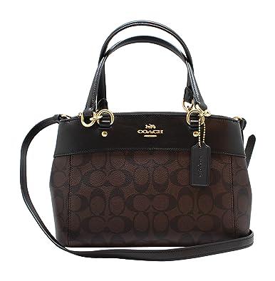 792d62a22ad4 COACH F26139 MINI BROOKE CARRYALL HANDBAG BROWN BLACK  Handbags  Amazon.com