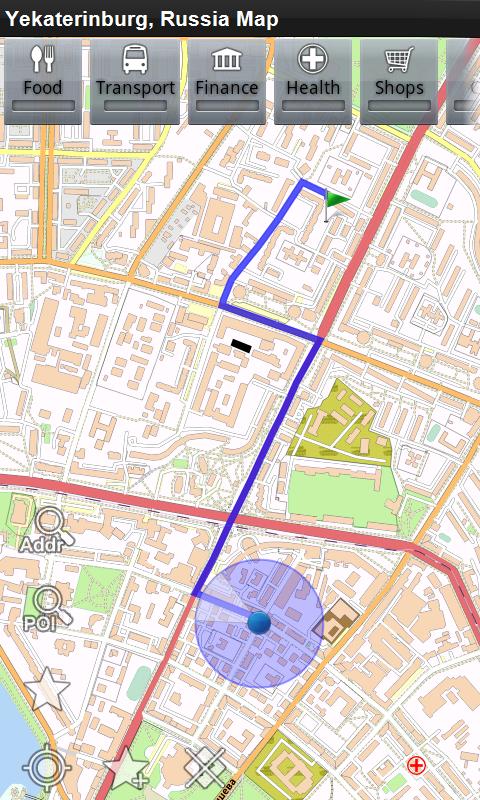 Amazon Com Yekaterinburg Russia Offline Map Place Stars Appstore