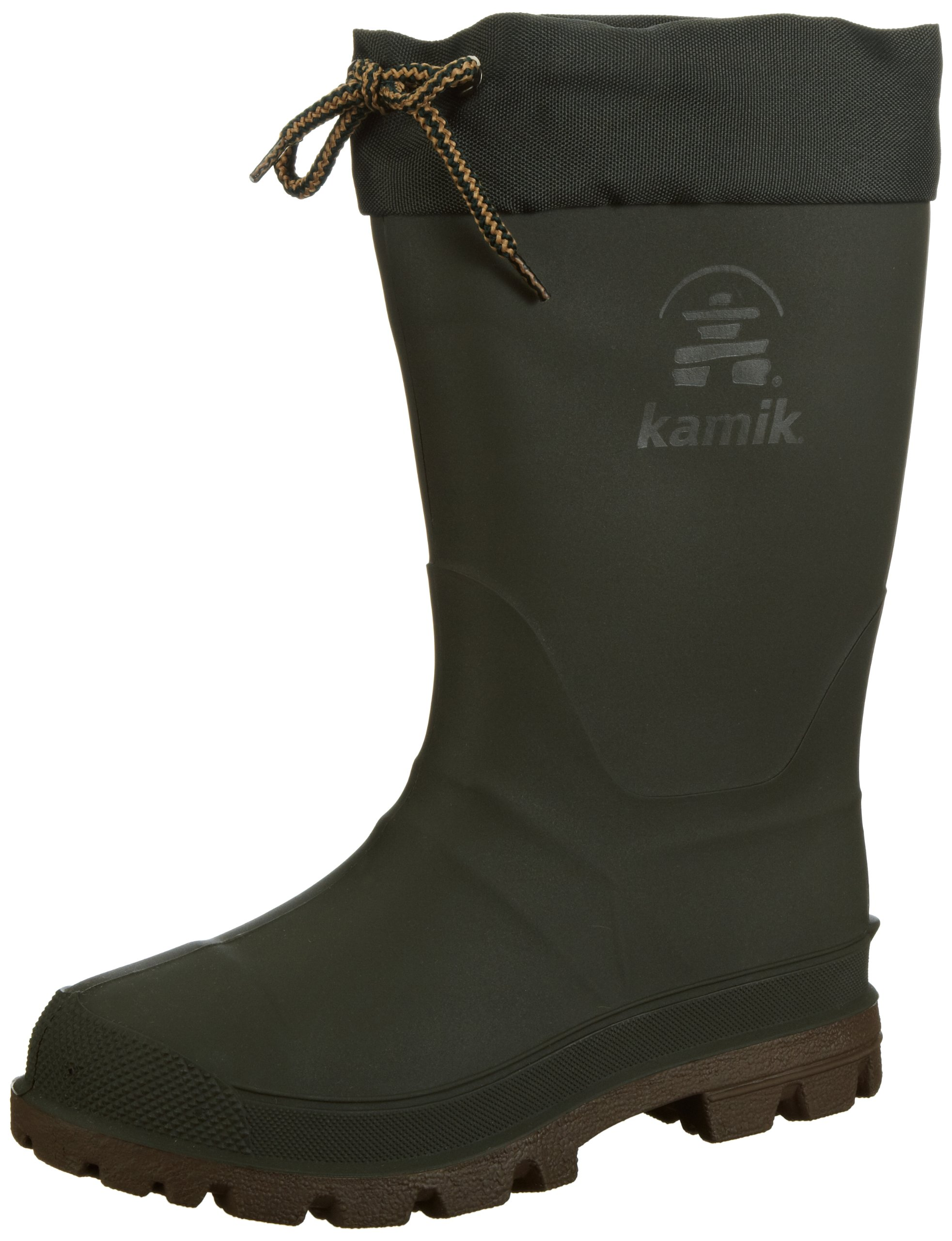 Kamik Kids Icebreaker Snow Boots Khaki / Brown Sole 5 by Kamik