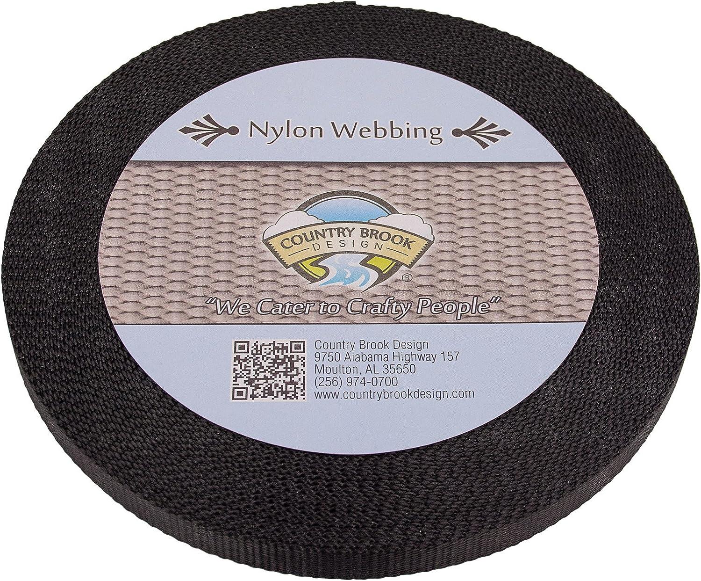 Country Brook Design - Black 1/2 Inch Heavy Nylon Webbing (20 Yards)