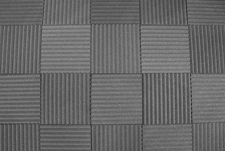 Soundproofing Acoustic Studio Foam - Wedge Style Panels - 12''x12''x1'' Tiles - 6 Pack - DIY