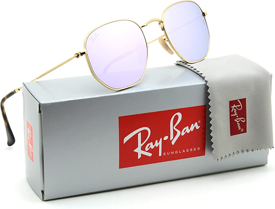 90b66a5ab0 Ray-Ban RB3548N Hexagonal Flat Lenses Unisex Sunglasses 001 8O - 51mm   Amazon.co.uk  Clothing