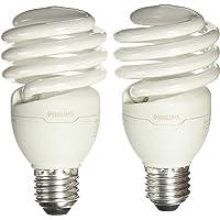 Philips 929689001605 Lámpara Ahorradora, Eco Home Twister, 23W, CDL E27, 127V, 2-Pack, color Blanco