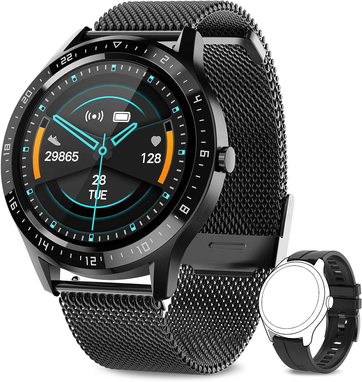 AIMIUVEI Smartwatch, Reloj Inteligente Impermeable 67 con Pantalla Táctil Completa, Pulsómetro, Monitor de Sueño, 7 Modos de Deportes, Reloj Deportivo Hombre Mujer para iOS y Android