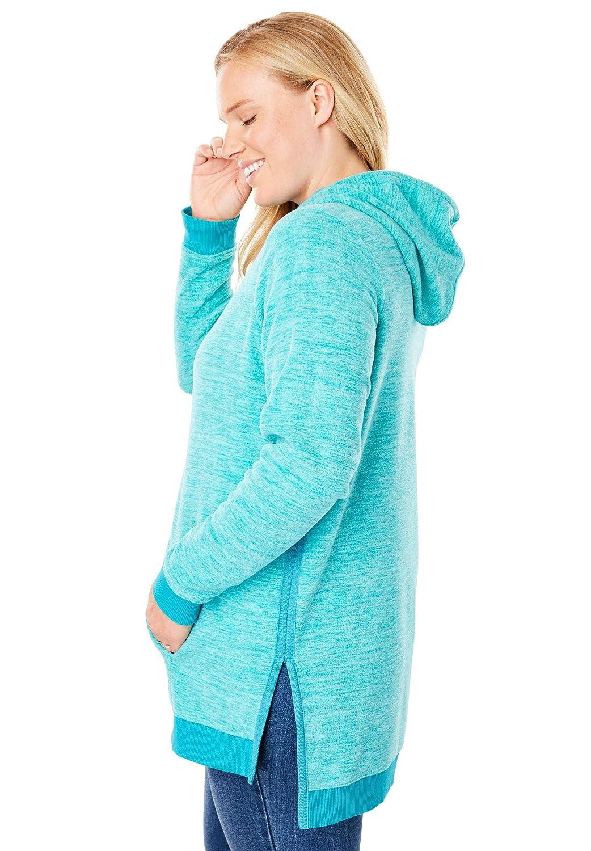 Woman Within Womens Plus Size Microfleece Hoodie
