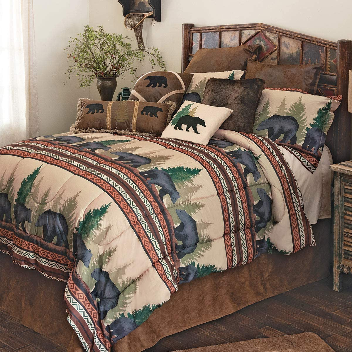 BLACK FOREST DECOR Timberline Bear Bed Set - Queen