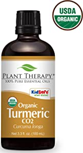 Plant Therapy USDA Certified Organic Turmeric CO2 Essential Oil. 100% Pure, Undiluted, Therapeutic Grade. 100 ml (3.3 oz).