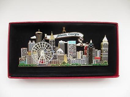 a894f8bcef7d Amazon.com: Atlanta Georgia Brass Christmas Ornament City Skyline ...