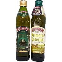 Aceite Extra Virgen Selección Borges Cosecha 500mL y Rva Fam 500mL 2Pack