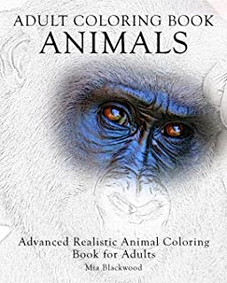 adult coloring book animals advanced realistic animal coloring book for adults advanced realistic coloring - Advanced Coloring Books For Adults