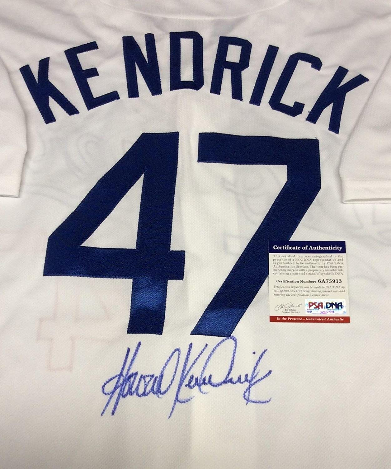 b178855e0 Amazon.com  Howie Kendrick Autographed Jersey - PSA DNA   6A75913 -  Autographed MLB Jerseys  Sports Collectibles