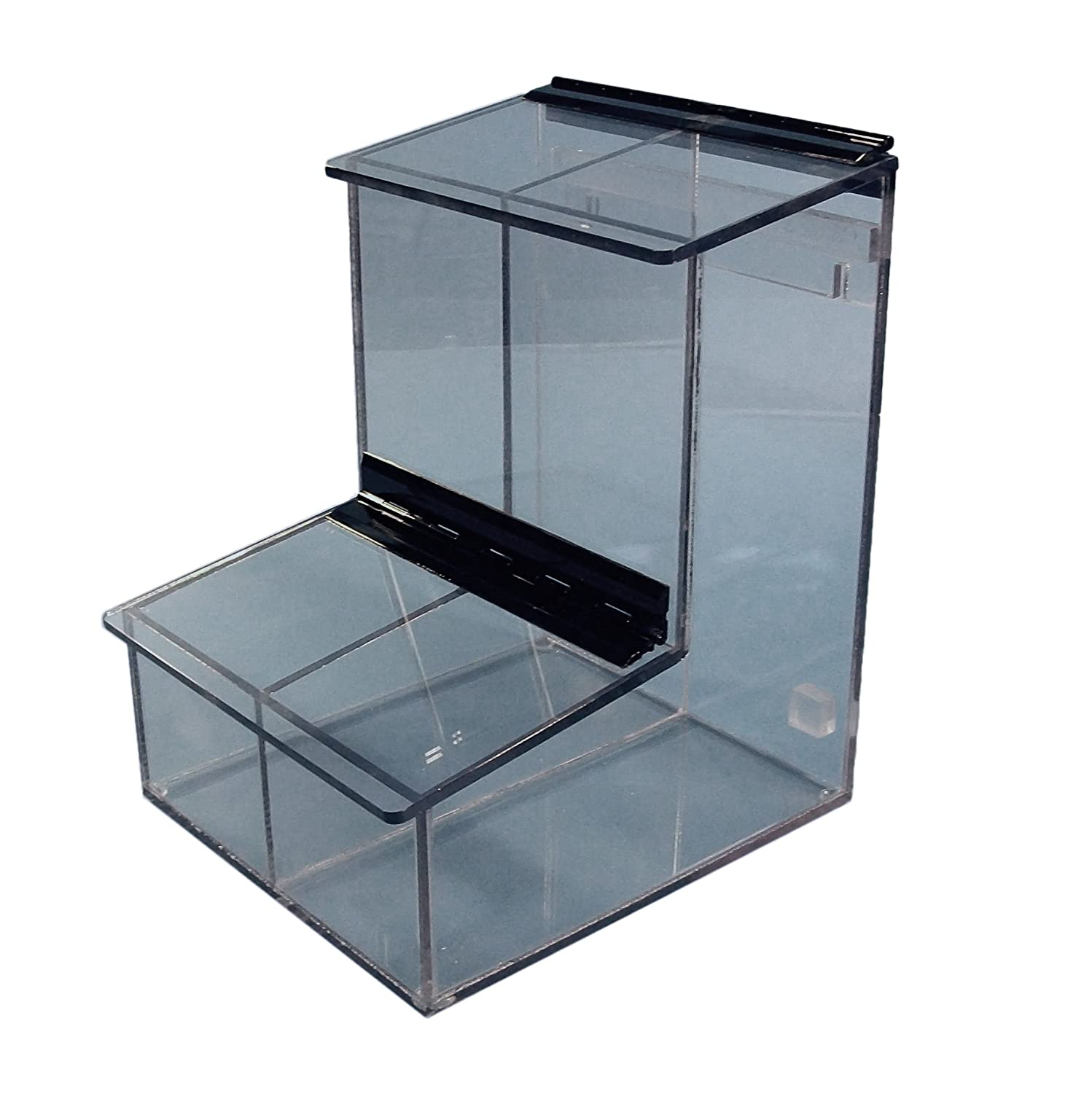 16 Height 12 Depth 14 Width 1//4 Thickness Clear S-Curve SD-200 PETG 2 Compartment Dispenser for Sterile or Pair Packaged Gloves