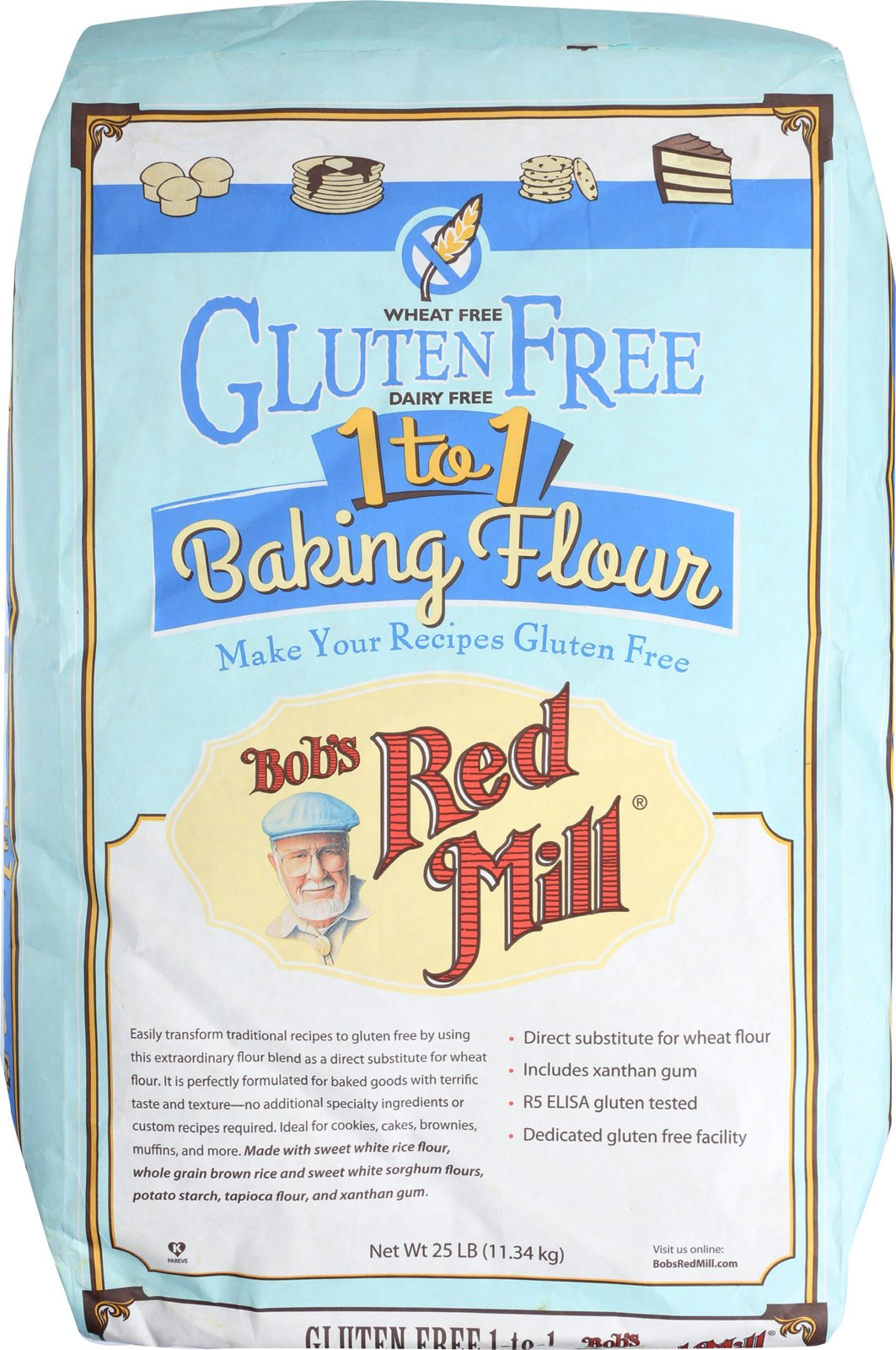 Bob's Red Mill Gluten Free 1-to-1 Baking Flour - 25 lb - Bulk Bag by Bob's Red Mill