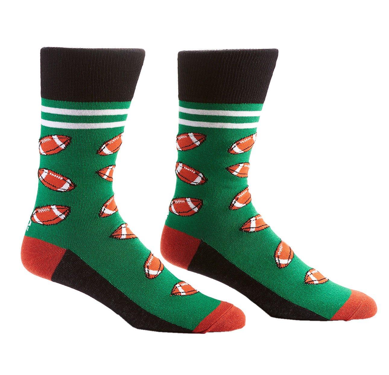 Yo Sox Sport Inspired Funky Funky Men's Crew Socks for Dress or Casual Wear Size YoSox 410467W