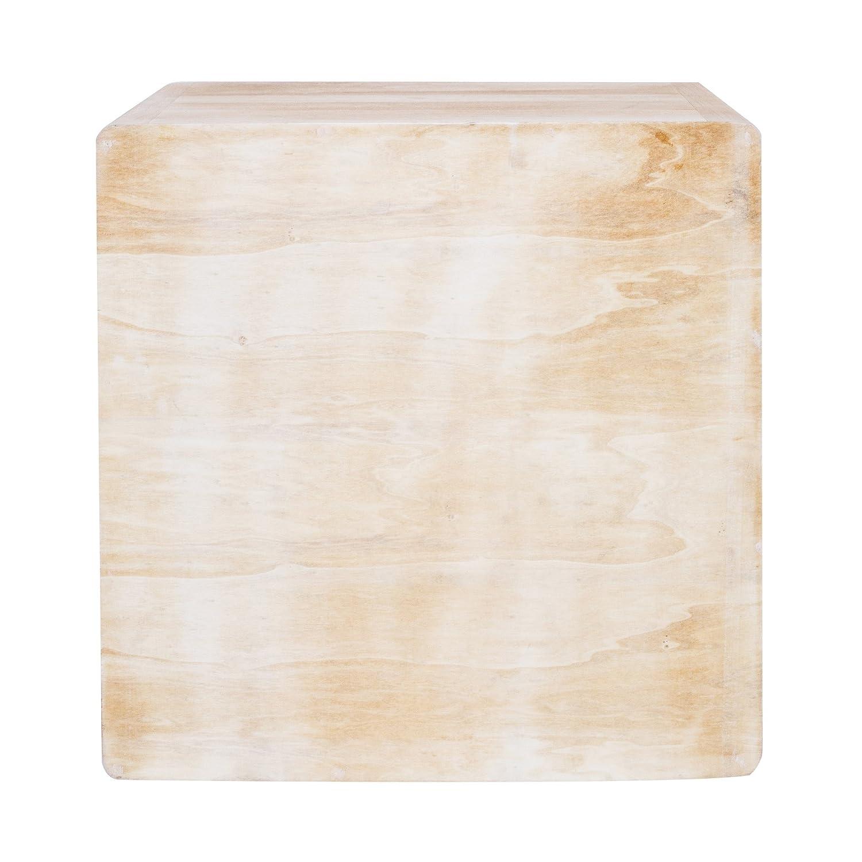 Misure: 44,5 x 44 x 35 cm Stile Shabby cassettiera Bagno HxLxP RE4031 in Legno di Paulownia - Art Rebecca Mobili Comodino con 2 cassetti Camera Bianco decapato