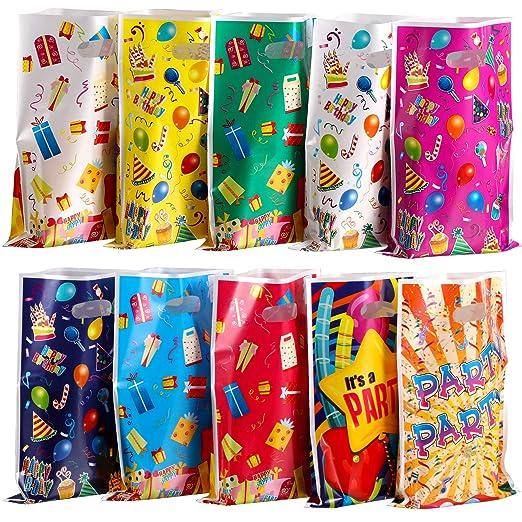 Outus 100 Bolsas de Plástico de Fiestas Bolsas Surtidas de ...