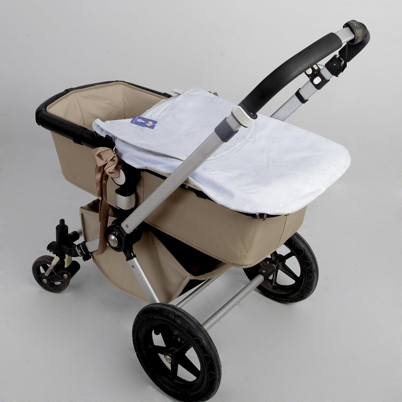 Saco Capazo + Funda Ajustable Danielstore Universal .Serie Acolchado boton . Carrito Bebé Color celeste: Amazon.es: Bebé