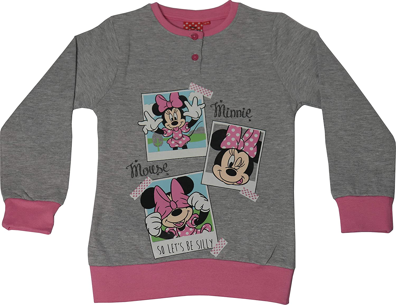 Pigiama Disney Minnie Topolina Bambina Cotone Felpato Maniche Lunghe