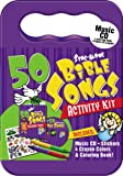 50 Bible Songs for Kids Activity Kit (Packaged in carrying case with Stickers, Crayons and Coloring Book)