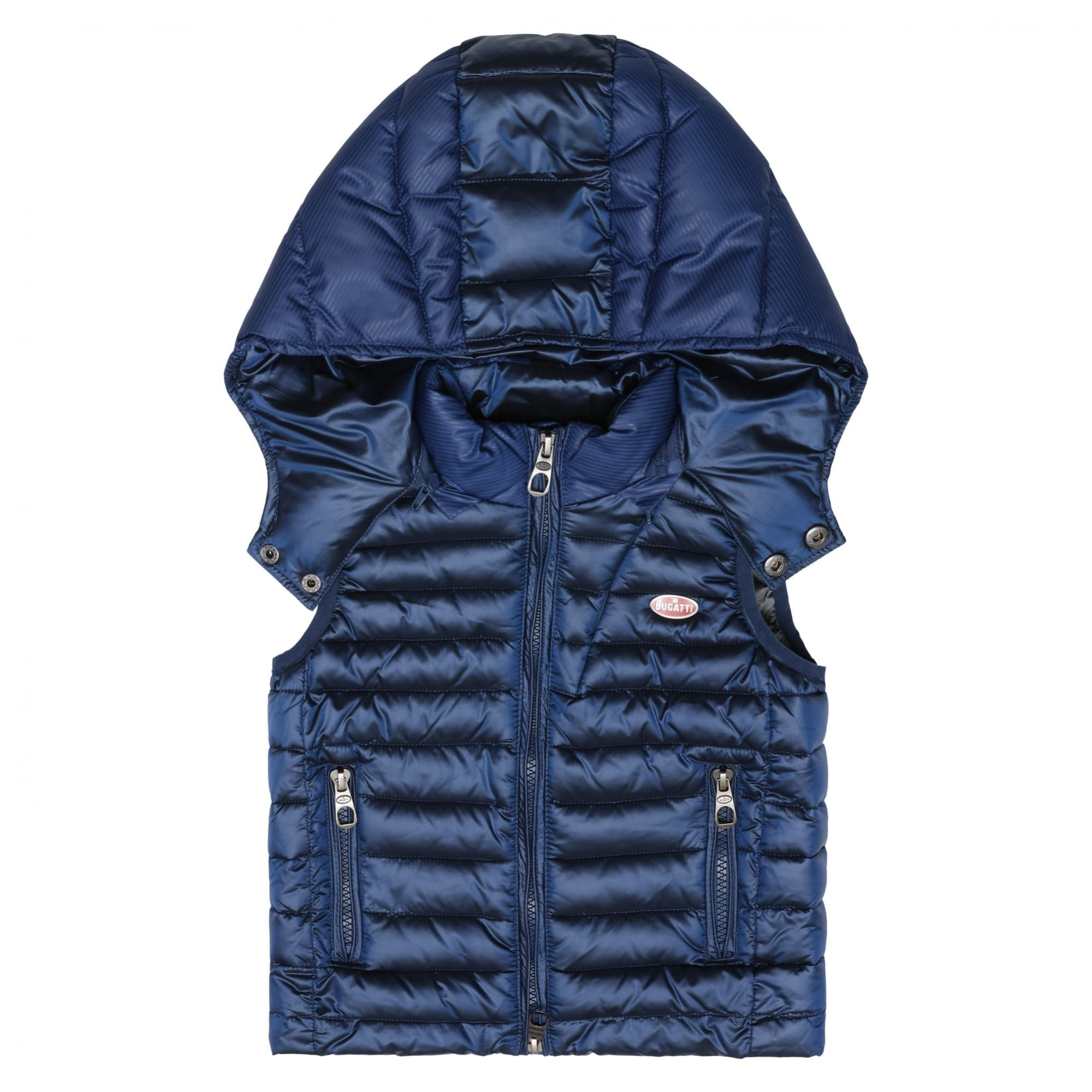 Bugatti Kids Hooded Gilet Patrese 4 Yrs Atlantic Blue Atlantic Blue by Bugatti Kids