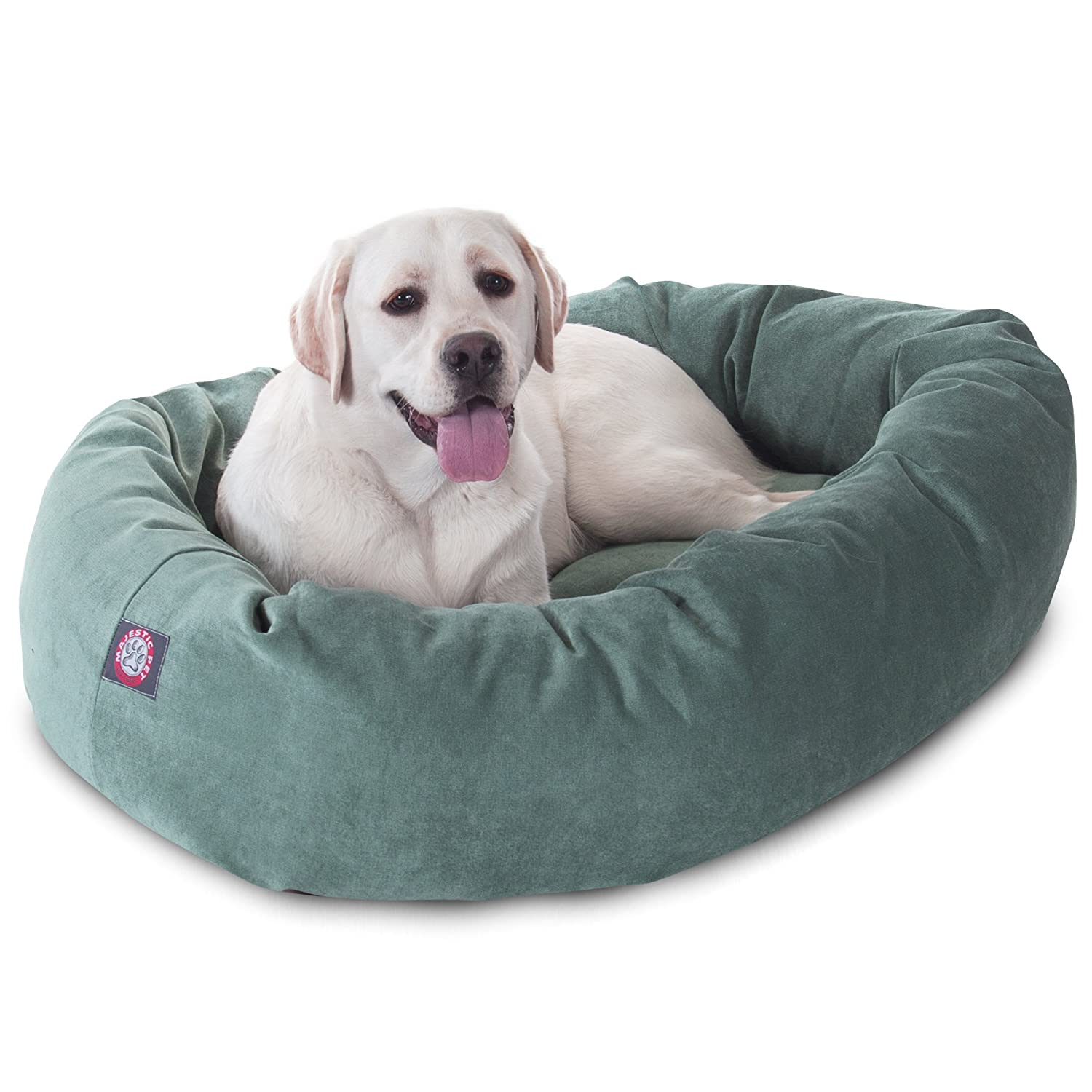 Azure 40InchMajestic Pet 40Inch Apple MicroVelvet Bagel Dog Bed