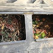 Amazon.com: Vaso de compostaje EJWOX – Cubo de abono doble ...