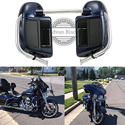Advanblack Big Blue Pearl Rushmore Lower Vented Fairings Kit Fit for Harley  Davidson Touring Street Glide Road Glide Electra Glide 2014 2015 2016 2017